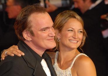 Quentin Tarentino et son actrice cascadeuse Zoé Bell (photo L'Oréal Cannes)