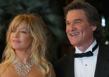 """Goldie Hawn accompagne son mari Kurt Russel, héros masculin de """"Boulevard de la mort"""" (photo L'Oréal Cannes)"""