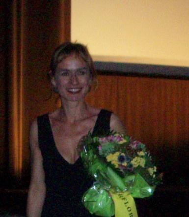 Sandrine Bonnaire à la fin de la projection samedi 7 juillet au cinéma l'Arlequin
