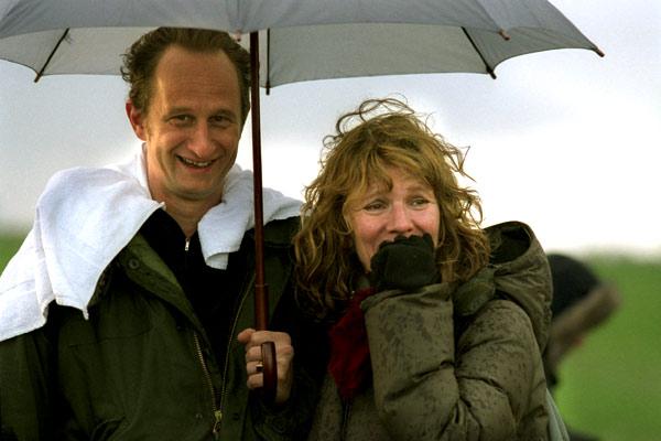 Benoit Poelvoerde et Nicole Garcia sur le tournage