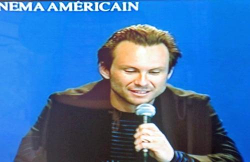"Christian Slater à la conférence de presse de ""Bobby"" ce matin"