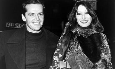 Jack Nicholson (son sourire dit de tueur) et Anjelica Huston (années 70)