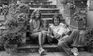 Michel et Chantal Delpech, 1970 avec leur fille Garance