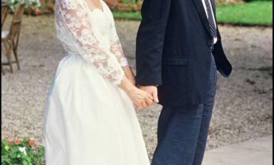 Michel Delpech épouse Genevieve Garnier-Fabre, 1985
