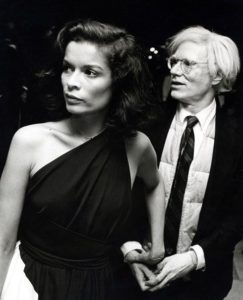 Bianca Jagger et Andy Warhol